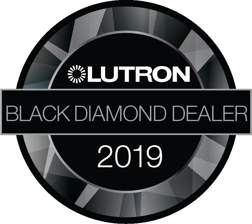 Lutron Black Diamond logo